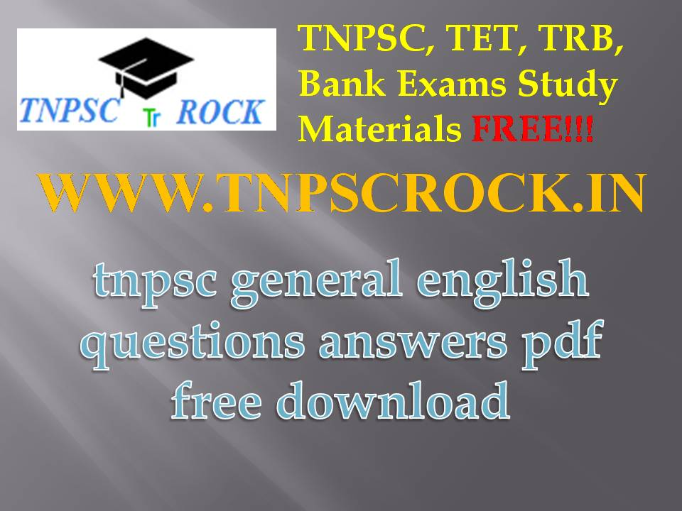 tnpsc exams general english questions answers pdf free download 2016
