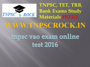 tnpsc vao exam online test 2016 (1)