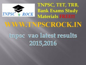 tnpsc  vao latest results 2015,2016 (1)
