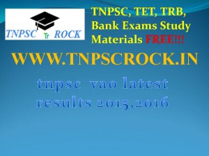 tnpsc  vao latest results 2015,2016 (2)