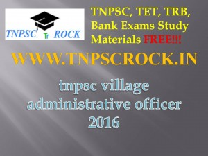 tnpsc village administrative officer 2016 (1)
