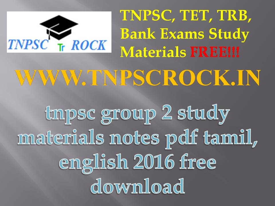 Tnpsc Group 2 Material In English Pdf